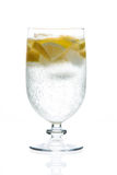 Cocktail in a glass isolated on a white Stock Photo