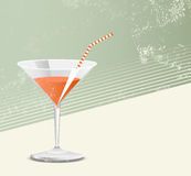 Cocktail glass - retro style Stock Image