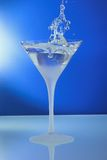 Cocktail glass with ring and standing mirror abstr Royalty Free Stock Image