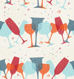 Cocktail glass seamless pattern background Stock Image