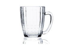 Cocktail glass set. Empty beer mug on white Royalty Free Stock Photo