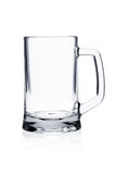 Cocktail glass set. Empty beer mug on white Stock Image