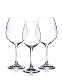 Cocktail glass set. Empty red and white wine glasses Stock Image