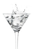 Cocktail Glass With Splash Motion royalty free stock photos