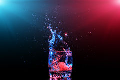 Cocktail in glass with splashes Stock Photo
