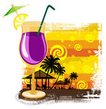 Cocktail in glass on summer background Royalty Free Stock Image