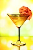 Cocktail glass with umbrella Royalty Free Stock Images