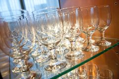 Cocktail glasses Stock Photo