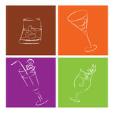 Cocktail glasses Royalty Free Stock Photos