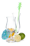 Cocktail glasses and citruses Royalty Free Stock Photo