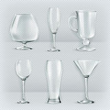 Cocktail glasses collection Royalty Free Stock Images
