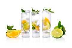 Cocktail in glasses Stock Images