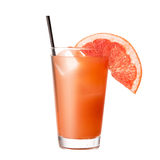 Cocktail grapefruit  on an isolated white background. Classic alcohol cocktail Stock Photos