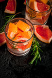 Cocktail with grapefruit and rosemary Stock Photography