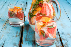 Cocktail with grapefruit and rosemary Royalty Free Stock Photo