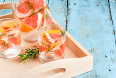 Cocktail with grapefruit and rosemary Royalty Free Stock Image