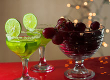 Cocktail and grapes stock photo