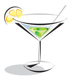 Cocktail green. Illustration cocktail green for web and for printing stock illustration