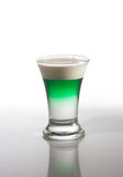 Cocktail with green liquor Royalty Free Stock Photography