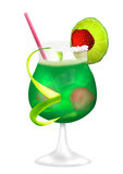 Cocktail_green_magic stock illustratie