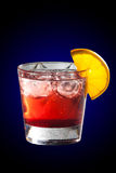 Cocktail with grenadine juice and lemon Royalty Free Stock Photos
