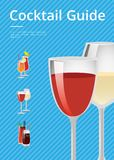 Cocktail Guide Advertising Poster Gasses of Wine Royalty Free Stock Image