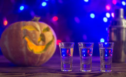 Cocktail for halloween party, selective focus Stock Photo