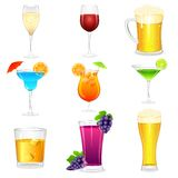 Cocktail and Hard Drinks stock illustration
