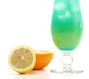 Cocktail - Havaí azul imagem de stock royalty free