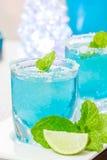Cocktail hawaiano blu freddo fotografie stock
