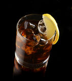 Cocktail with ice cola whiskey Royalty Free Stock Images