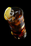 Cocktail with ice cola whiskey Stock Images