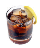 Cocktail with ice cola whiskey Stock Photography