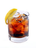 Cocktail with ice cola whiskey Royalty Free Stock Photography