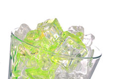 Cocktail and ice cubes Royalty Free Stock Photo
