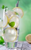 Cocktail with ice and lemon slice Stock Photography