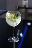 Cocktail with ice, mint and lime. Royalty Free Stock Images