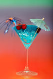 Cocktail with ice and umbrella Stock Photo