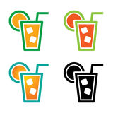 Cocktail icon drink Stock Images