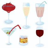 Cocktail-icon-set Stock Photo