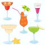 Cocktail-icon-set Royalty Free Stock Photos
