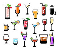 Cocktail Icon Set Royalty Free Stock Images