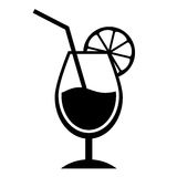 Cocktail icon Royalty Free Stock Photography