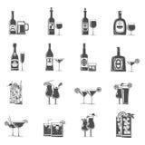 Cocktail Icons Black Stock Photos