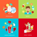 Cocktail icons set Royalty Free Stock Photo