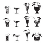 Cocktail icons set Stock Image