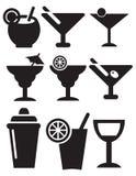 Cocktail-Ikonen stock abbildung