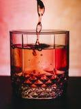 Cocktail im Glas stockfoto