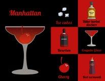 Cocktail im Quadrat vektor abbildung