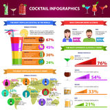 Cocktail Infographics Set Royalty Free Stock Images